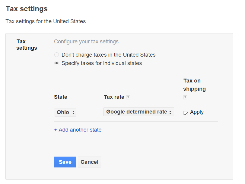 Google determined tax rate