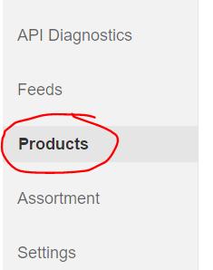 Products Menu