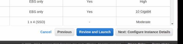 Click on Review and Launch.