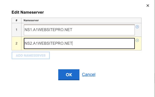 Edit your Nameserver