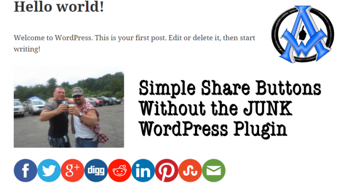 Simple Share Buttons With No Junk Added