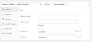 woocommerce variations and swatches step 2 for single product product data