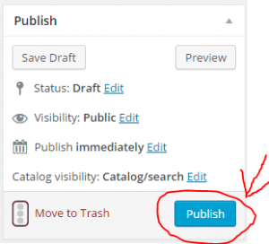 publish your variable product with variations and swatches