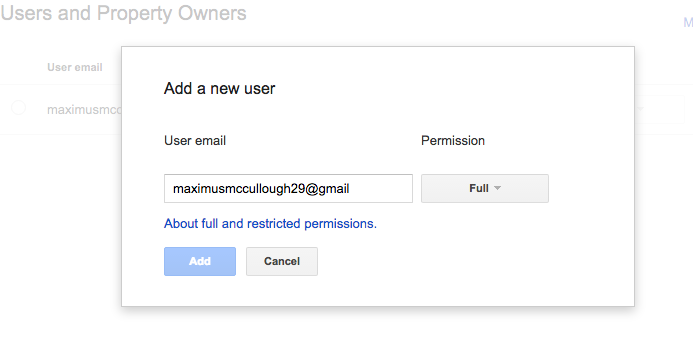 Enter Email and Select Access Privileges