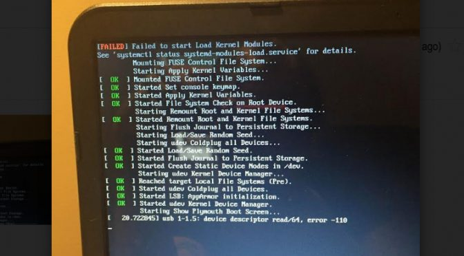 Failed to start Load Kernel Modules