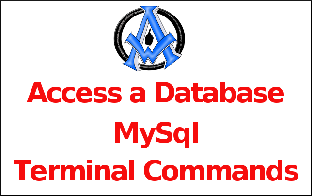 Access a Database MySql Terminal Command