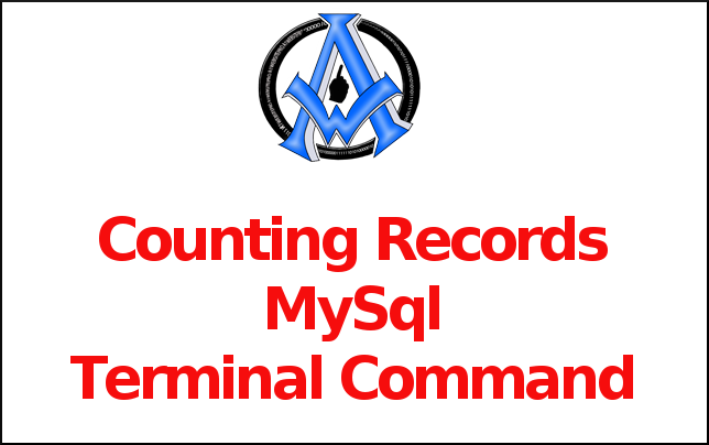 Counting Records MySql Terminal Command