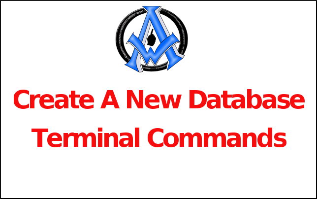 Create A New Database Terminal Commands