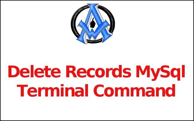 Delete Records MySql Terminal Command