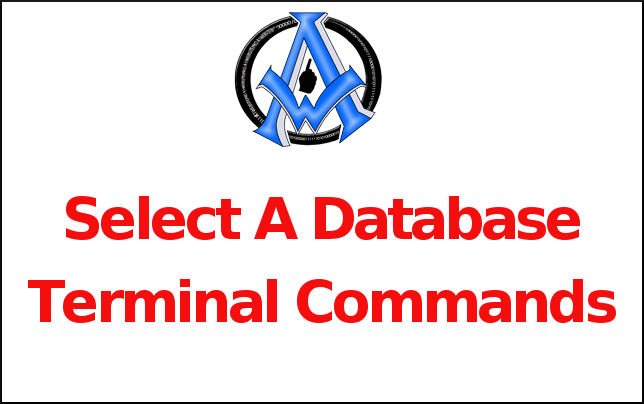 Select A Database Terminal Command