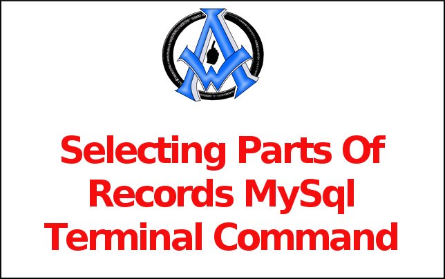 Selecting Parts Of Records MySql Terminal Command