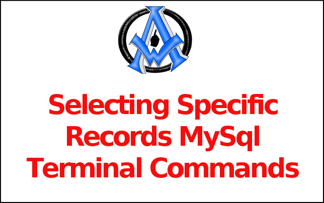 Selecting Specific Records MySql Terminal Command