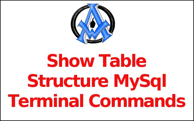 Show Table Structure MySql Terminal Commands