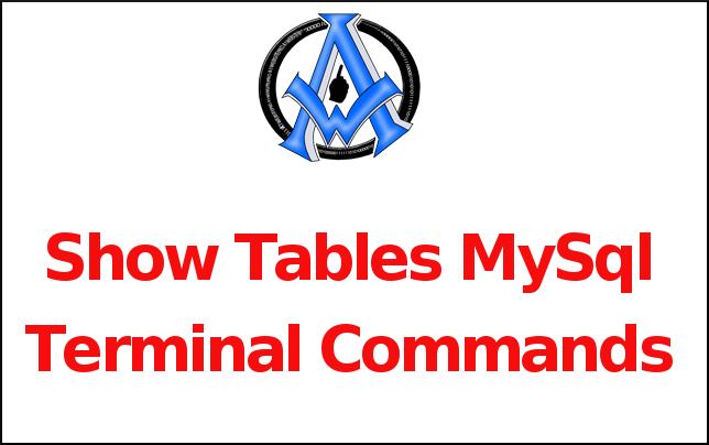 Show Tables MySql Terminal Commands