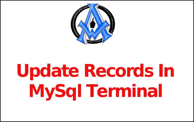 Update Records In MySql Terminal