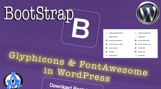 glyphicons-fontawesome-bootstrap-wordpress