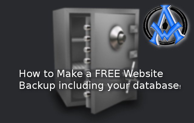 How To Make A Free Website Backup PHP & MySql