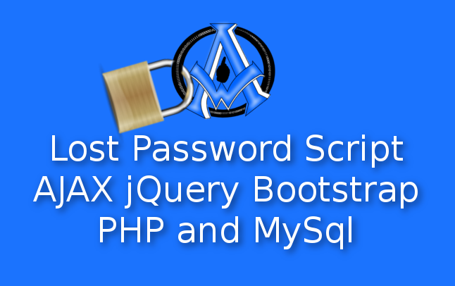 Lost Password Script AJAX jQuery Bootstrap PHP and MySql