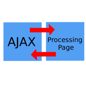use a different page to process ajax requests