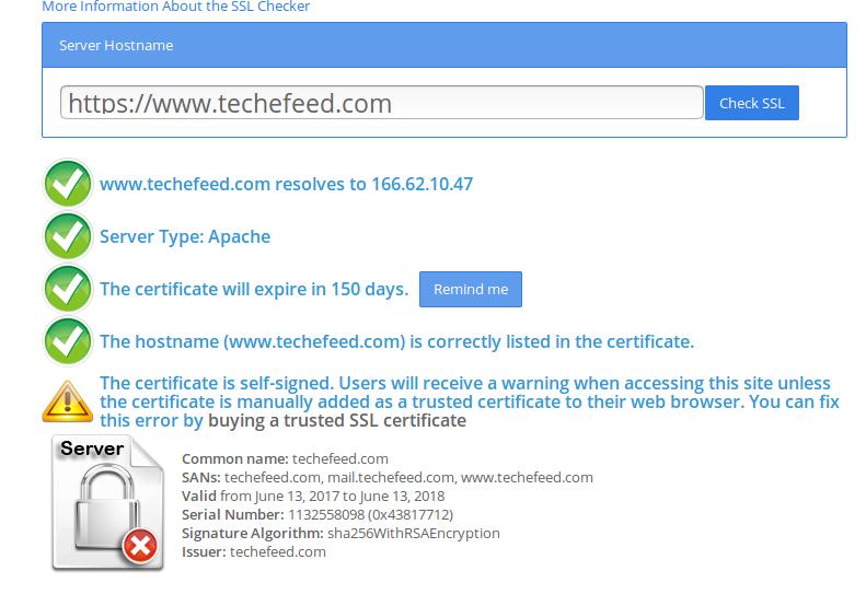Self Signed Certificate