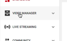Click on Video Manager