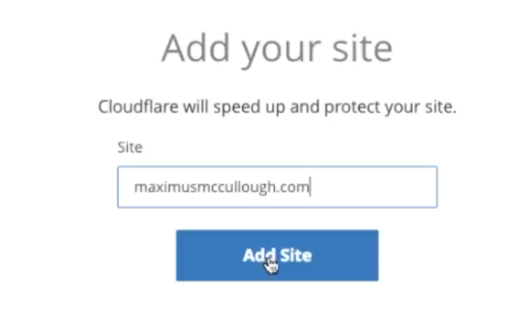 Enter the URL of your website