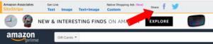 Amazon Affilliate Share On Social Media