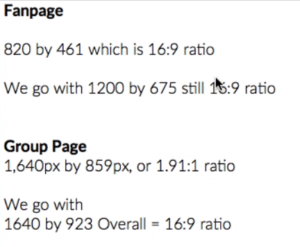 Facebook Fan Page And Group Page Header Specs