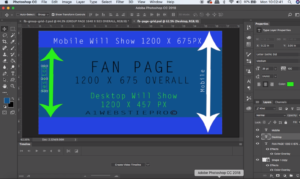 Facebook Fan Page Template Graphic