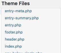 Find header.php to insert font script