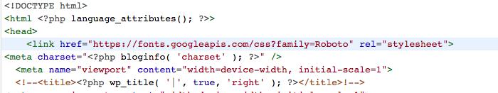 Insert Font Script After Head Tag