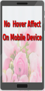 hover affect not available on mobile device