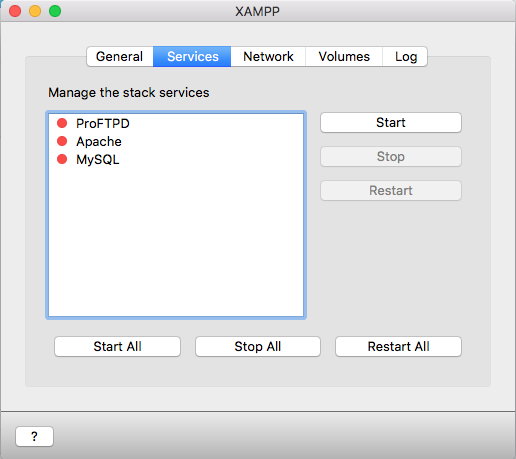 START APACHE MYSQL AND PHP ON XAMPP