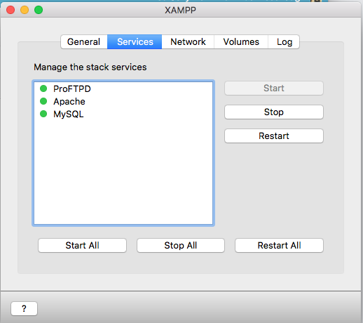 STARTING XAMPP
