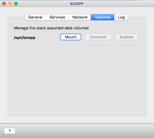 MOUNT APPLICATION XAMPP