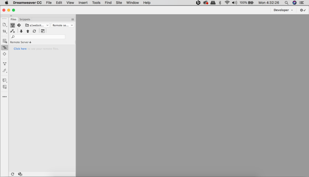 Dreamweaver cc 2019 Workspace Layout