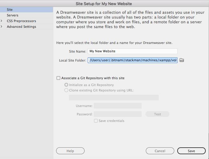 Save Site Folder