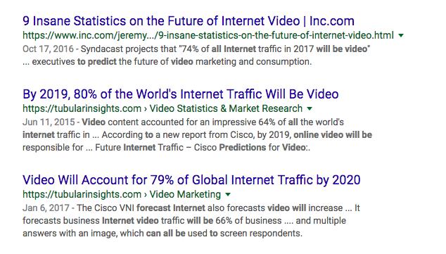 Video Predictions For Future Web