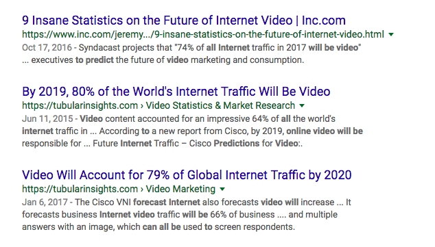 Video Predictions For Future Web