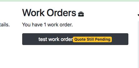 Status Of Work Order