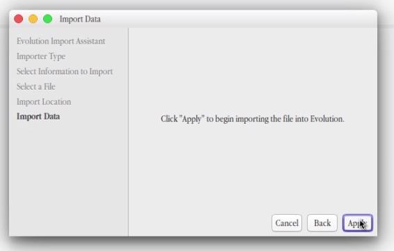 import data gmail to evolution