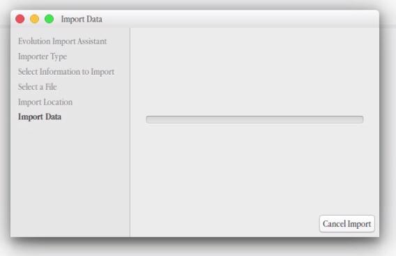 importing gmail data