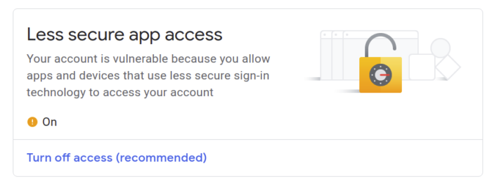 less secure apps