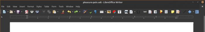 Unformattted option Libre Office