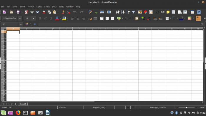 Libre Office Spreadsheet