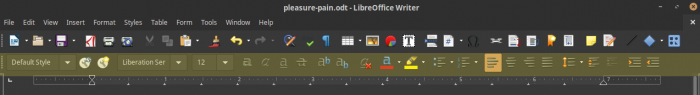 Highlighted Format Option in Libre Office Writer