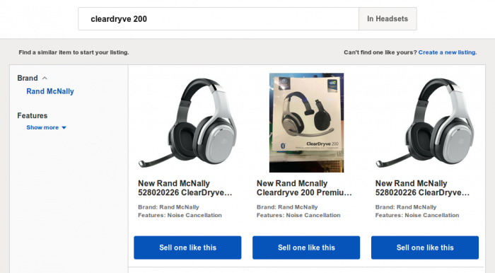 ebay category matches