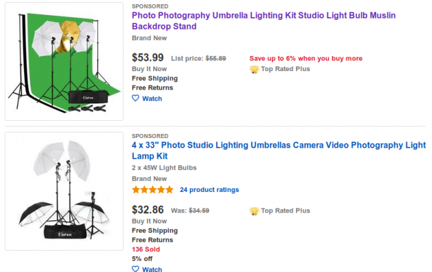studio lighting on ebay