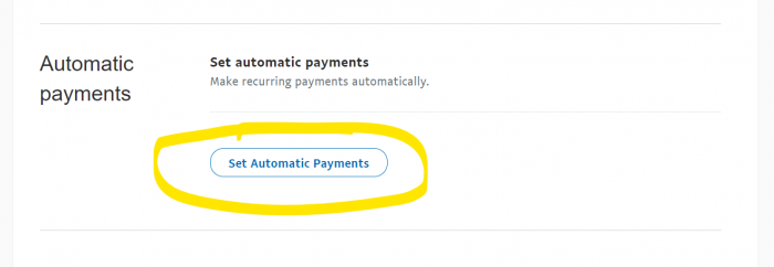Automatic Payments PayPal