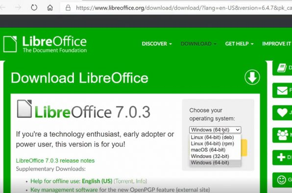 Libre Office Version For Correct Operating System